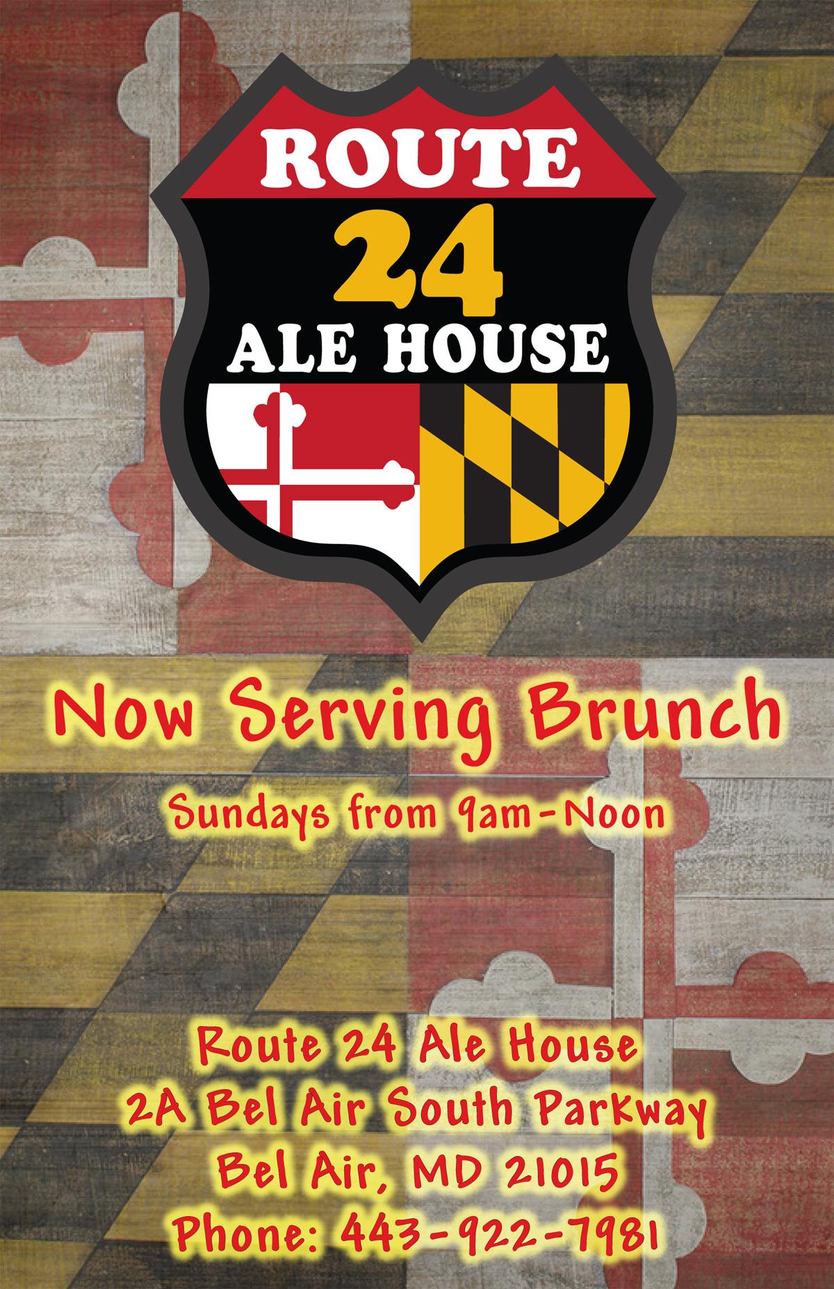 Route 24 Ale House Brunch Menu Cover