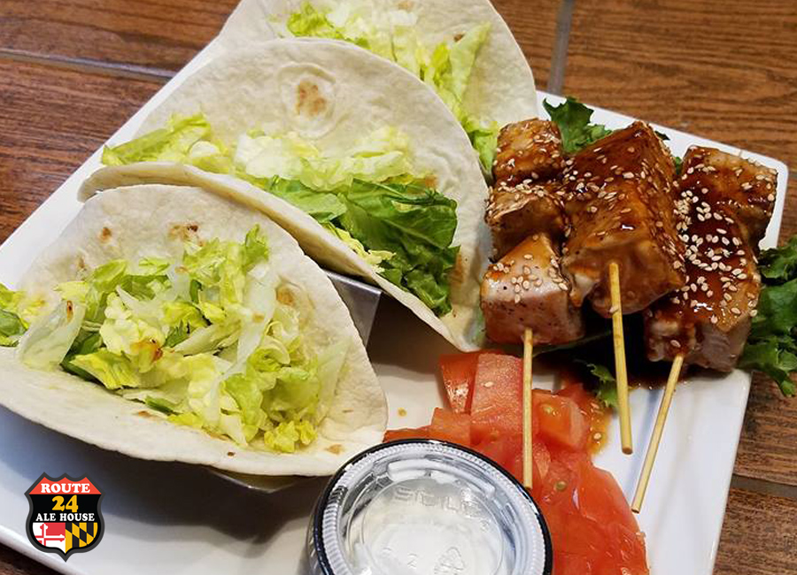 Delicious Tacos at Route 24 Ale House