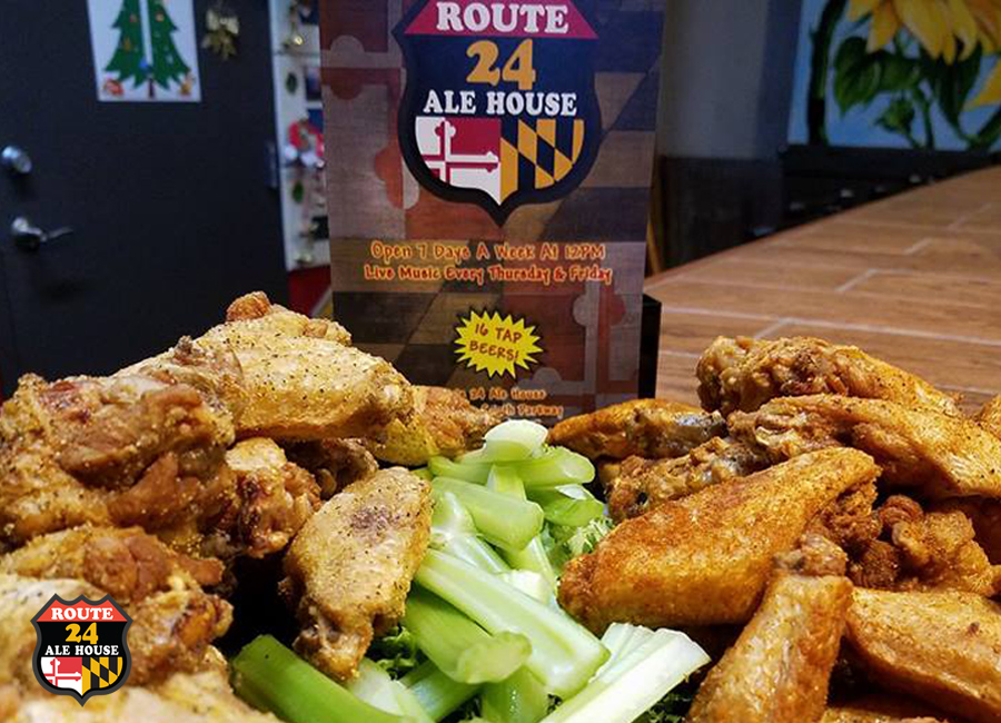Hot Wings at Route 24 Ale House