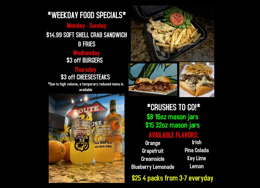 Weekday Specials at Route 24 Ale House